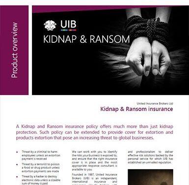 Political Violence – Kidnap & Ransom