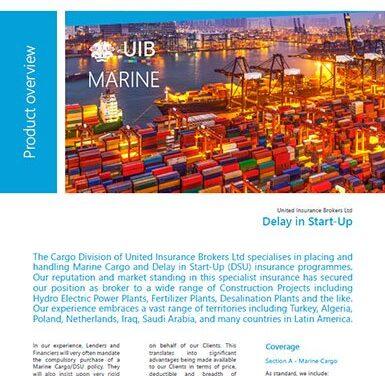 Marine Cargo – Delay in Start Up