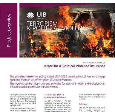 Political Violence – Terrorism & Political Violence