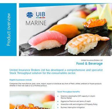Marine Cargo – Food and Beverage